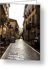 Streets Of Italy - Citta Sant Angelo 2 Greeting Card