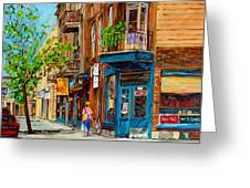 Streets Of Montreal Over 500 Prints Available By Montreal Cityscene Specialist Carole Spandau Greeting Card