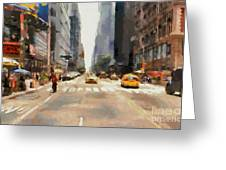 Streets Of New York Greeting Card