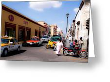 Streets Of Oaxaca Mexico 1 Greeting Card