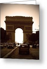 Streets Of Paris Greeting Card