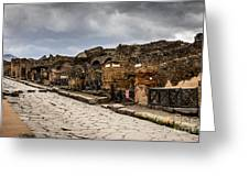 Streets Of Pompeii - 1a Greeting Card