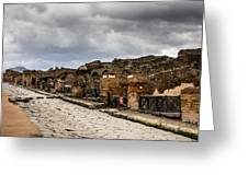 Streets Of Pompeii Greeting Card