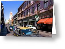 Streets Of Puebla 3 Greeting Card