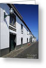 Streets Of Ribeira Grande Greeting Card