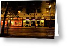 Streets Of San Jose, Ca Midnight Greeting Card
