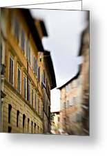 Streets Of Siena Greeting Card