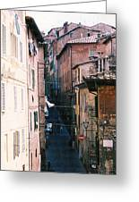 Streets Of Siena Photograph Greeting Card