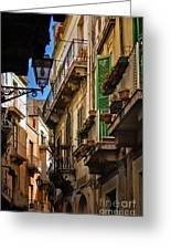 Streets Of Siracusa Greeting Card