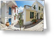 Streets Of Skopelos Greeting Card
