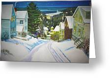 Streets Of Snow Greeting Card