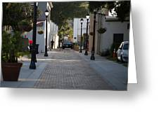 Streets Of St. Augustine Greeting Card