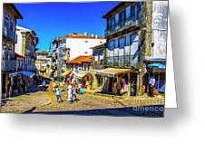 Streets Of Valenca Greeting Card