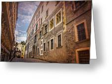 Streets Of Vienna Austria  Greeting Card