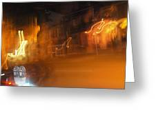 Streets On Fire Greeting Card