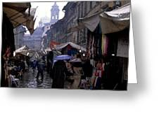 streetscene in Italy Greeting Card