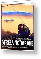 Stresa - Mottarone, Cable Car, Italy Greeting Card