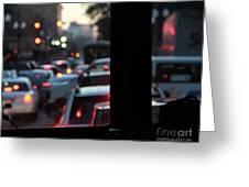 Stret Car Traffic Greeting Card