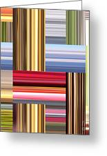 Stretch Of Colors Greeting Card