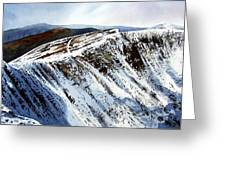 Striding Edge Leading To Helvellin Sumit  Greeting Card