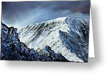 Striding Edge On Helvellin Greeting Card