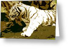 Striking Tiger Greeting Card
