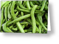 String Beans Greeting Card