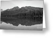 String Lake Reflections Bw Greeting Card