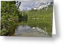 String Lake Teton Reflection Greeting Card