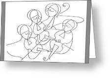 String Quartet Greeting Card