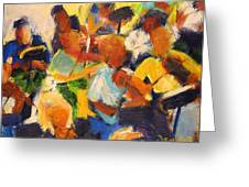 String Section Greeting Card by Bob Dornberg