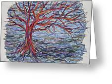 String Tree - Growing By A Thread Greeting Card
