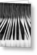 Strings In A Loom Greeting Card