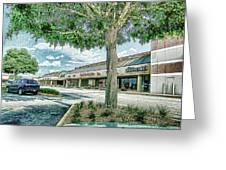 Strip Mall Digital Art Greeting Card