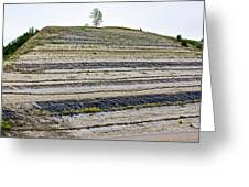 Striped Bank On Side Of A Road In Northwest North Dakota Greeting Card