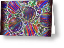 Striped Biggons Marbles Greeting Card