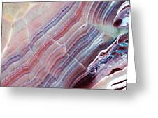 Striped Quartz Greeting Card