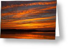 Striped Sunset Greeting Card
