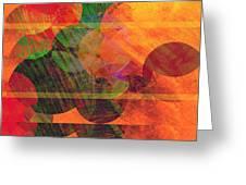 Stripes And Circles Greeting Card