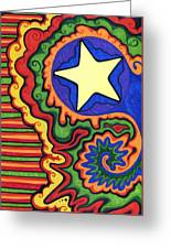 Stripes And Star Greeting Card