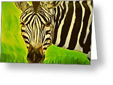 Stripes In Africa Greeting Card