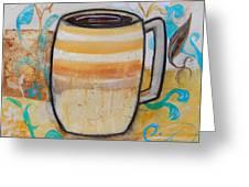 Stripped Mug Greeting Card