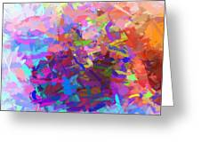 Strips Of Pretty Colors Abstract Greeting Card