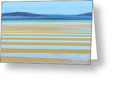 Stripy Shores Greeting Card