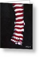 Stripy Steps Greeting Card