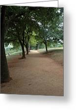 Stroll On Mulberry Row Monticello Greeting Card