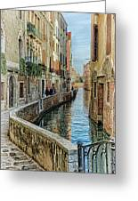 Stroll The Canal Greeting Card