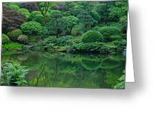 Strolling Pond Serenity Greeting Card