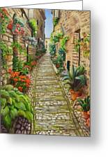 Strolling Spello, Italy Greeting Card
