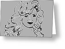 Strong Woman In Black White Greeting Card